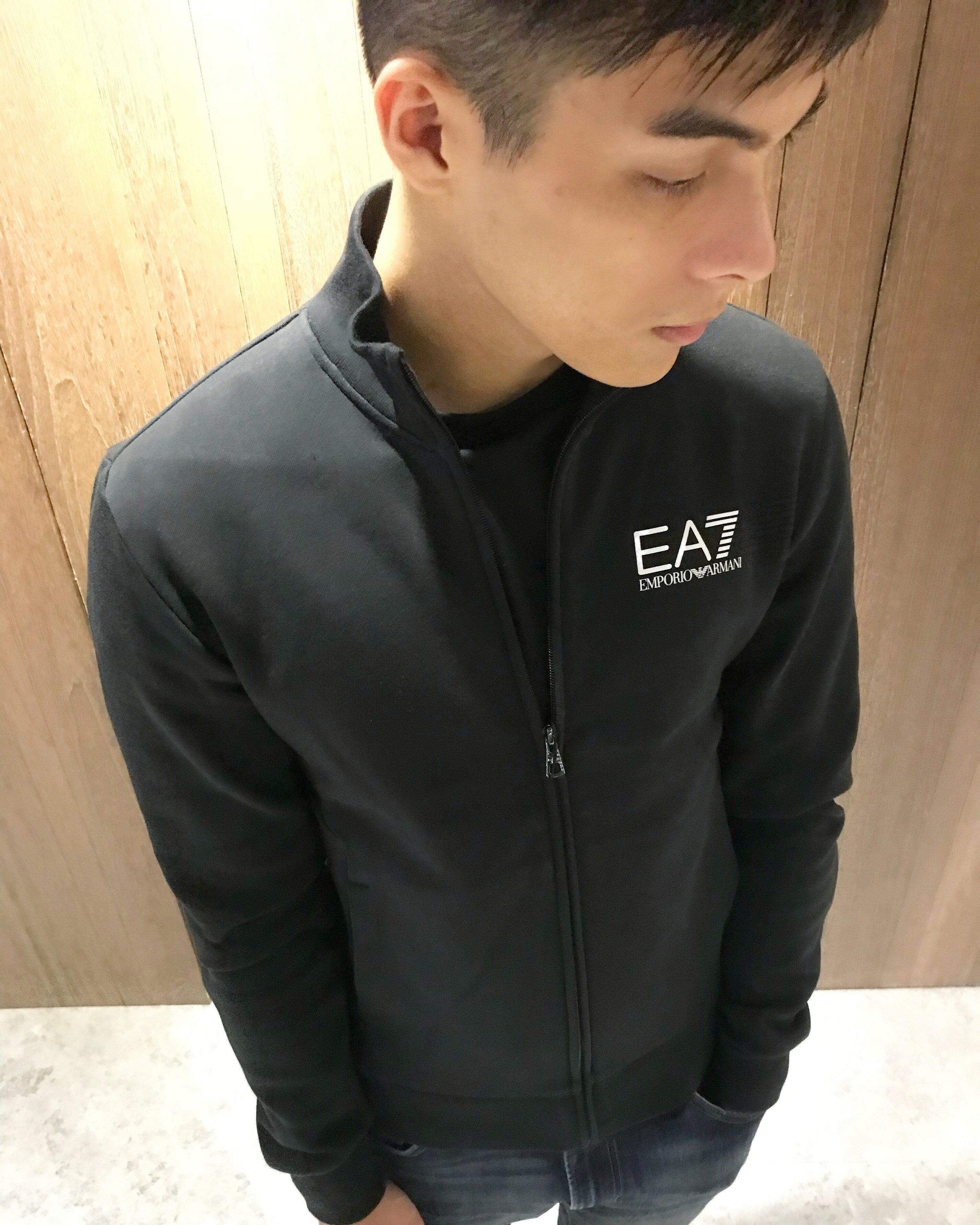 美國百分百【全新真品】Emporio Armani 立領外套 防風 素面 EA7 黑 logo XS~3XL號 J569
