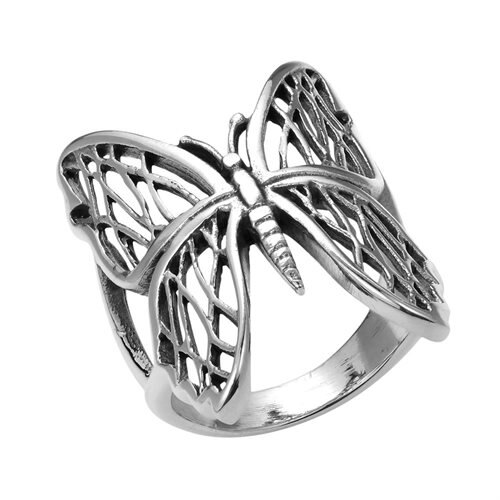 Exotic Wings Wild Butterfly .925 Sterling Silver Ring (Thailand) 2