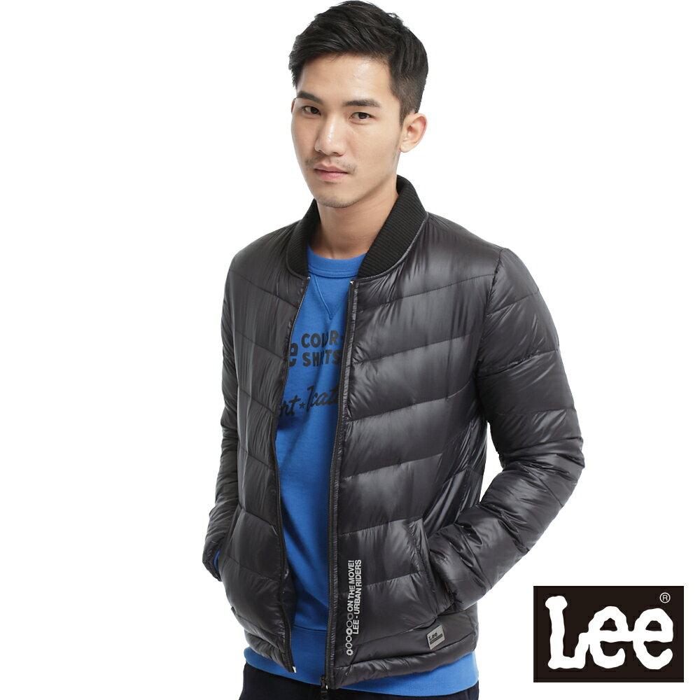 【單一價↘899】Lee 都市騎士 輕量羽絨拉鍊保暖外套-中性款(黑)
