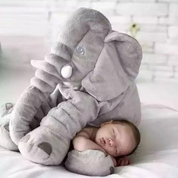 Plush Baby Soft Elephant Sleep Pillow Large Stuffed Animal Doll Kids Toys 0