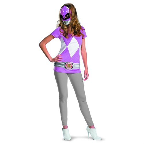 Power Rangers Pink Ranger T-Shirt & Mask Adult Costume Set 0