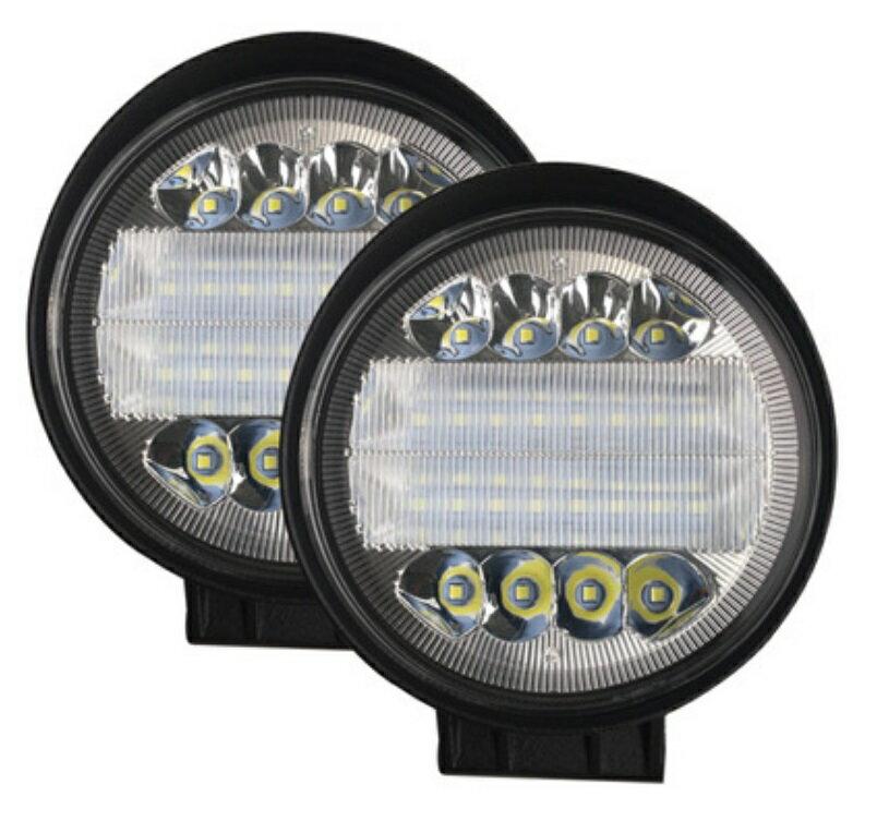 48W白光 汽車LED工作燈 圓形方形 前照燈 檢修照射燈 越野車貨車大燈 汽車大燈