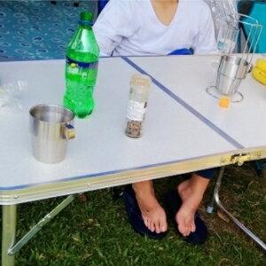 美麗大街【106012506】便利加長型摺疊桌 可調高度 三折桌 露營必備