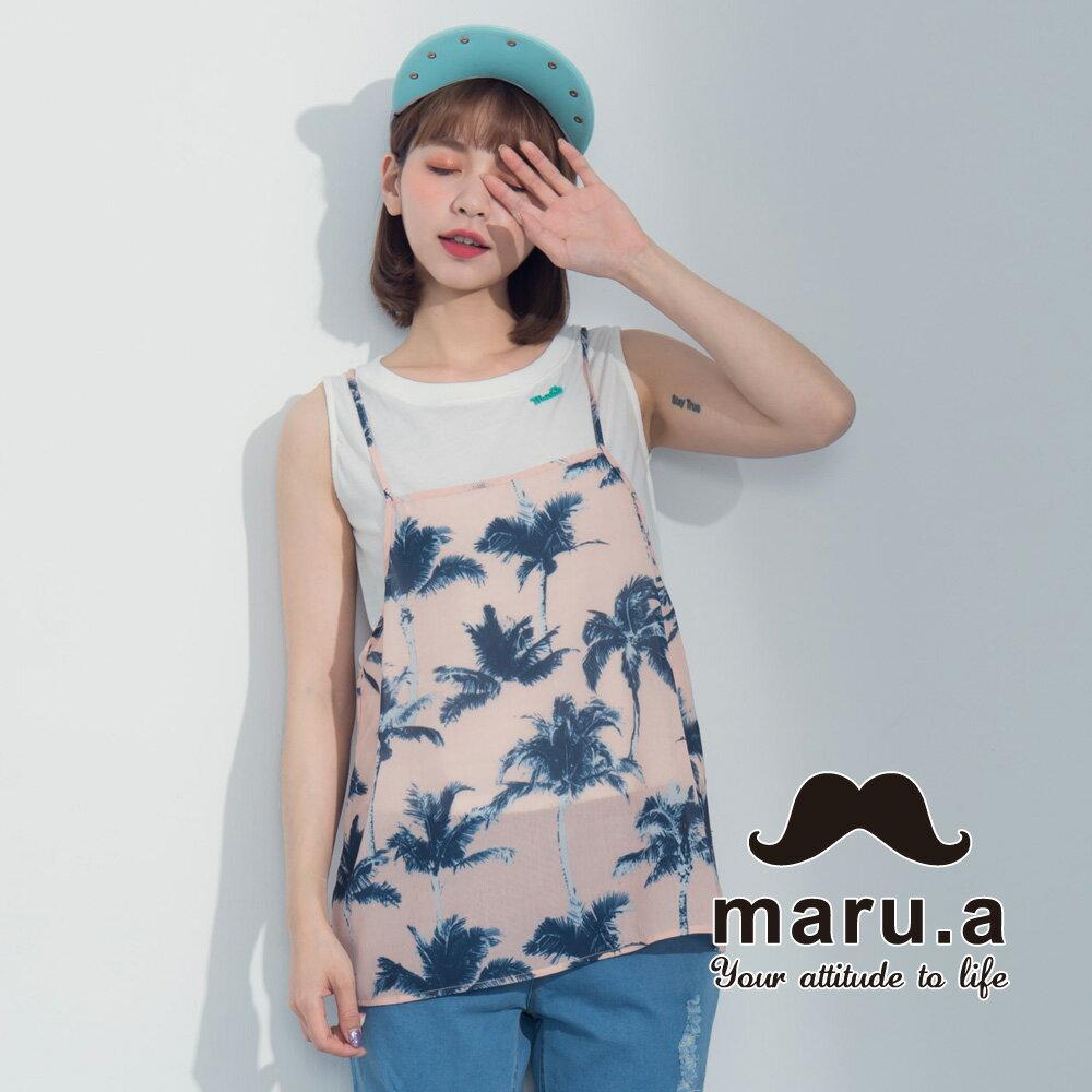 【maru.a】夏日椰子樹兩件式背心7323121 5
