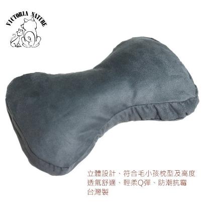 寵物狗骨頭睡枕、抱枕、多功能枕、造型枕-紳士藍色麂皮 台灣製