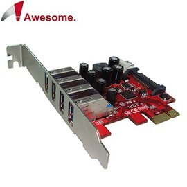 Awesome PCIe 4埠USB3.0擴充卡 AWD-UB-120LN