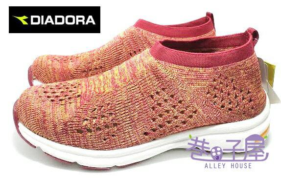 【巷子屋】義大利國寶鞋-DIADORA迪亞多納 女款彈性編織運動跑鞋 [9982] 紅 MIT台灣製造 超值價$498