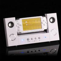 【Playwoods】[PSP週邊/周邊] PSP喇叭音箱音響擴大器: Music Box陶瓷白色 適用PSP-1000/2000/3000 (全新)
