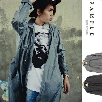 現貨 韓國製 風衣外套 長版輕薄滑面尼龍【OS15316】- SAMPLE