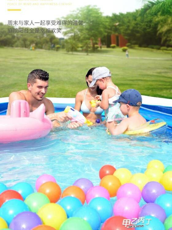 兒童充氣游泳池 加厚寶寶家用泳池超大家庭戶外大型玩具戲水池【快速出貨】