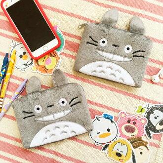 PGS7 日本卡通系列商品 - 龍貓 となりのトトロ Totoro 造型 方型 絨毛 收納包 零錢包 吉卜力 宮崎駿