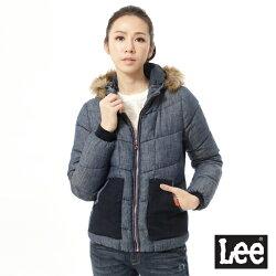 Lee 連帽羽絨外套(藍灰)