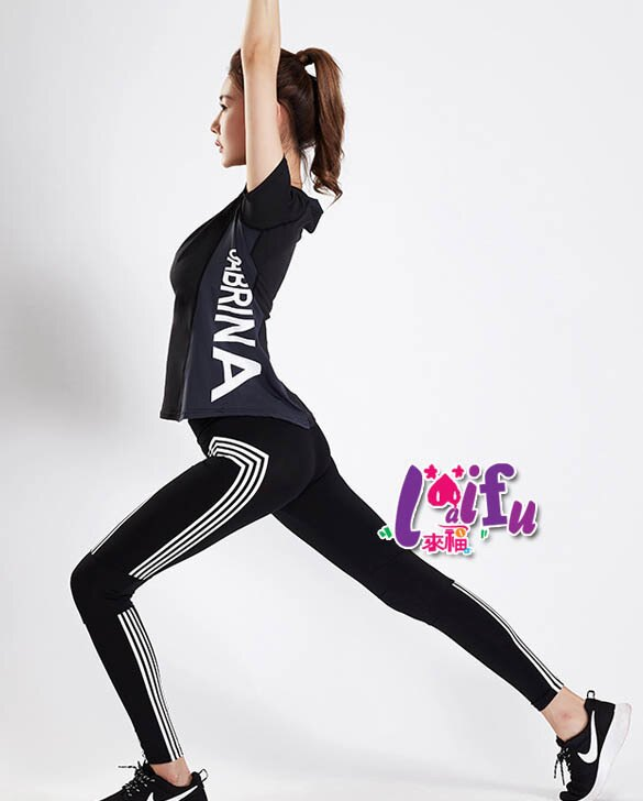 來福運動,B306運動服樂章運動衣路跑健身瑜珈路跑長褲正品,整套售價990元