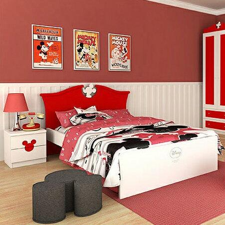 [首雅傢俬] 經典 米奇 4尺 單人床 床架 單人加大 床 兒童 家具