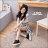 ★399免運★格子舖*【KiA68】韓版雜誌百搭款 素面皮革 拉鍊鬆緊4CM內增高3CM厚底休閒鞋 懶人鞋 2色 1