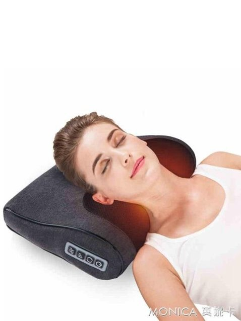 頸椎按摩器頸部腰部肩部全身多功能充電肩頸枕頭電動背220VYYJ  秋冬新品特惠