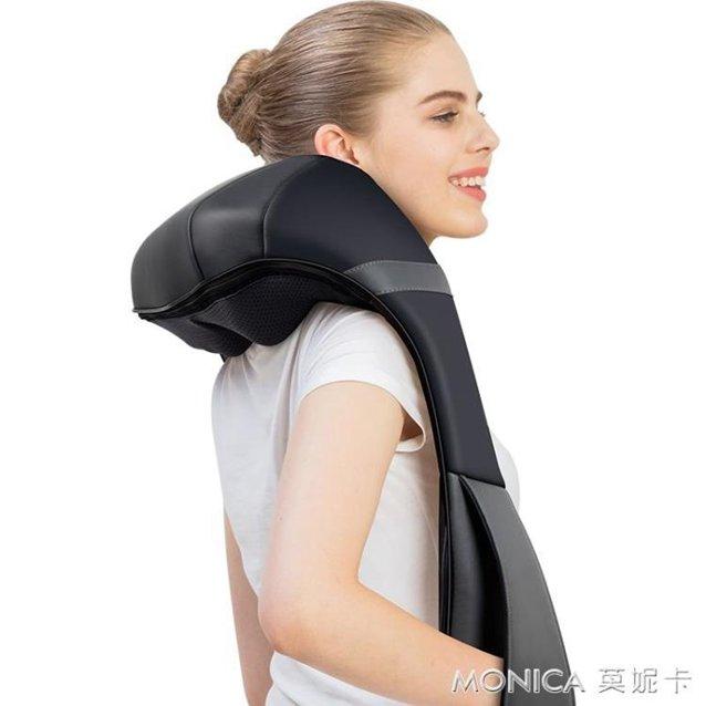按摩器頸部腰部肩部肩膀按摩捶打揉捏加熱家用多功能頸220VYYJ  秋冬新品特惠