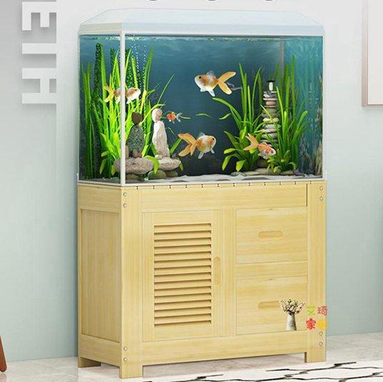 魚缸底櫃 客廳定做生態水族箱底座地櫃辦公桌小型定製實木魚缸櫃T 秋冬新品特惠
