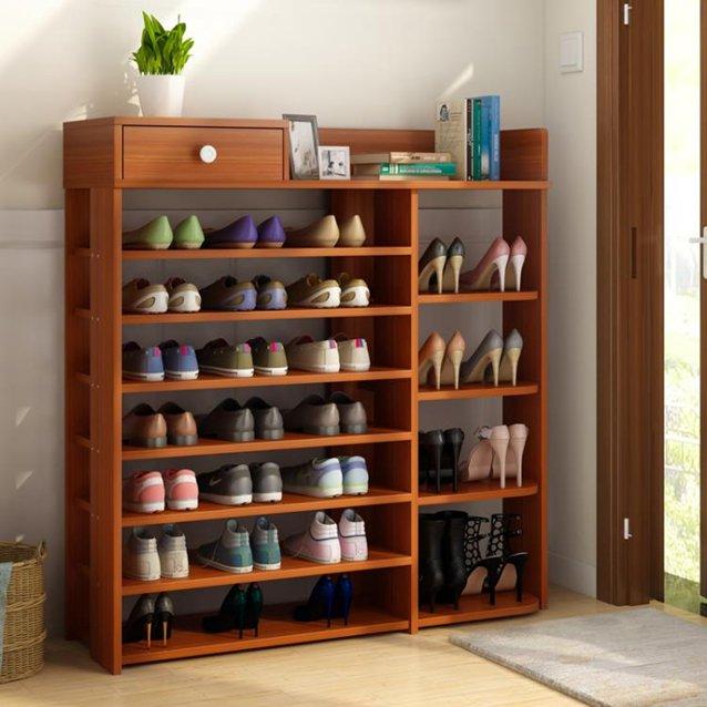 鞋架簡易多層收納鞋櫃家用門口室內放經濟型實木色置物架子大容量 LX  秋冬新品特惠