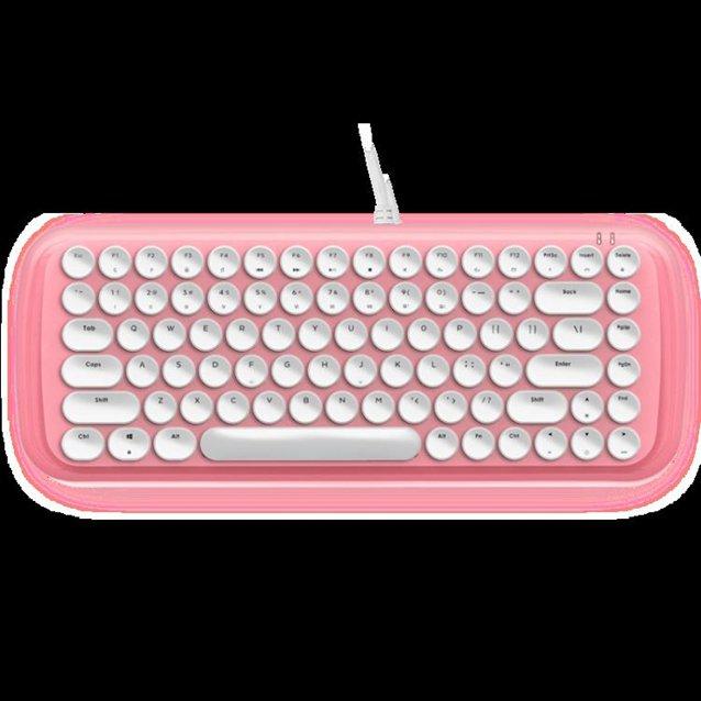 seenDa 機械鍵盤女生可愛復古游戲辦公專用打字青軸朋克87鍵真電競筆 LX 秋冬新品特惠