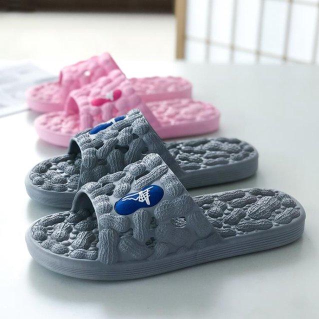 按摩拖鞋男女 家用腳底穴位越南泰國橡膠防滑溫突衛生間不臭腳鞋 秋冬新品特惠