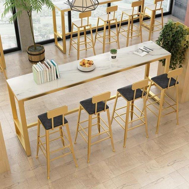 吧臺桌大理石吧臺桌家用北歐簡約現代靠牆高腳桌椅組合客廳長條桌子隔斷  秋冬新品特惠