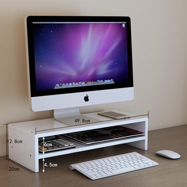 螢幕架辦公室臺式電腦顯示器增高架墊高屏幕底座架子支架桌面收納置物架  『718狂歡節』