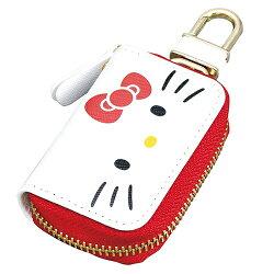 大賀屋 日貨 Hello kitty 汽車鑰匙包 鑰匙包 汽車鑰匙 車鑰匙 鑰匙 凱蒂貓 三麗鷗 正版授權 J00040058