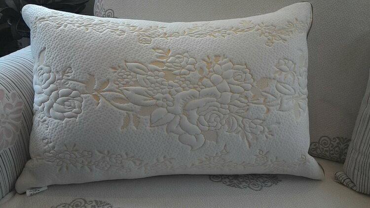 [床工坊]( 台灣製造)立體天絲舒柔布羽絲絨枕----夏季新品 1