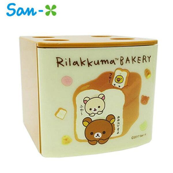 米白款【日本正版】拉拉熊疊疊樂抽屜盒抽屜收納盒桌面收納懶懶熊RilakkumaSan-X-453633