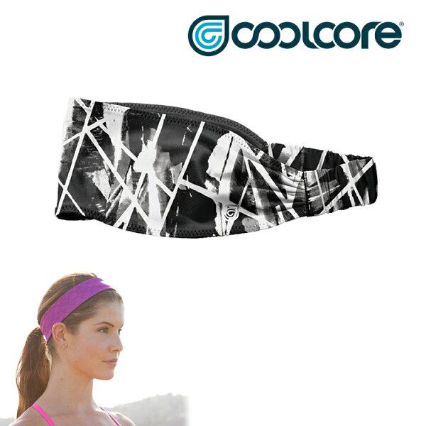 COOLCOREPhoenixChillBand涼感鬆緊寬頭帶城市綠洲(降溫、吸濕排汗、涼爽舒適、運動專用)