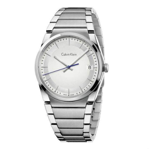 CKSTEP型走系列(K6K31146+K6K33146)雙色簡約時尚腕錶白面38+30mm