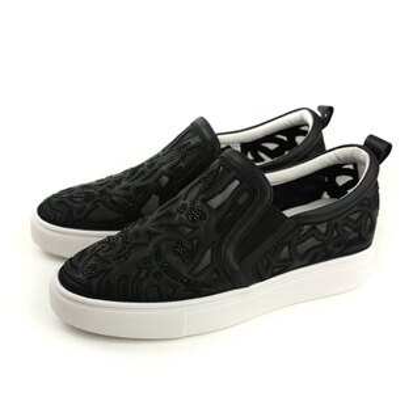 HUMANPEACE懶人鞋簍空黑色女鞋809-1-08no144