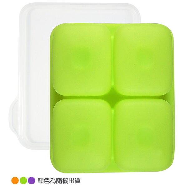 韓國BeBeLock副食品TokTok連裝盒4格(顏色隨機出貨)