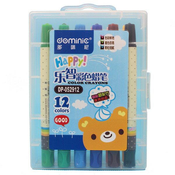 12色旋轉蠟筆DP-052912多咪尼樂智旋轉蠟筆(短型.硬盒)一箱12組入{促79}~廣合