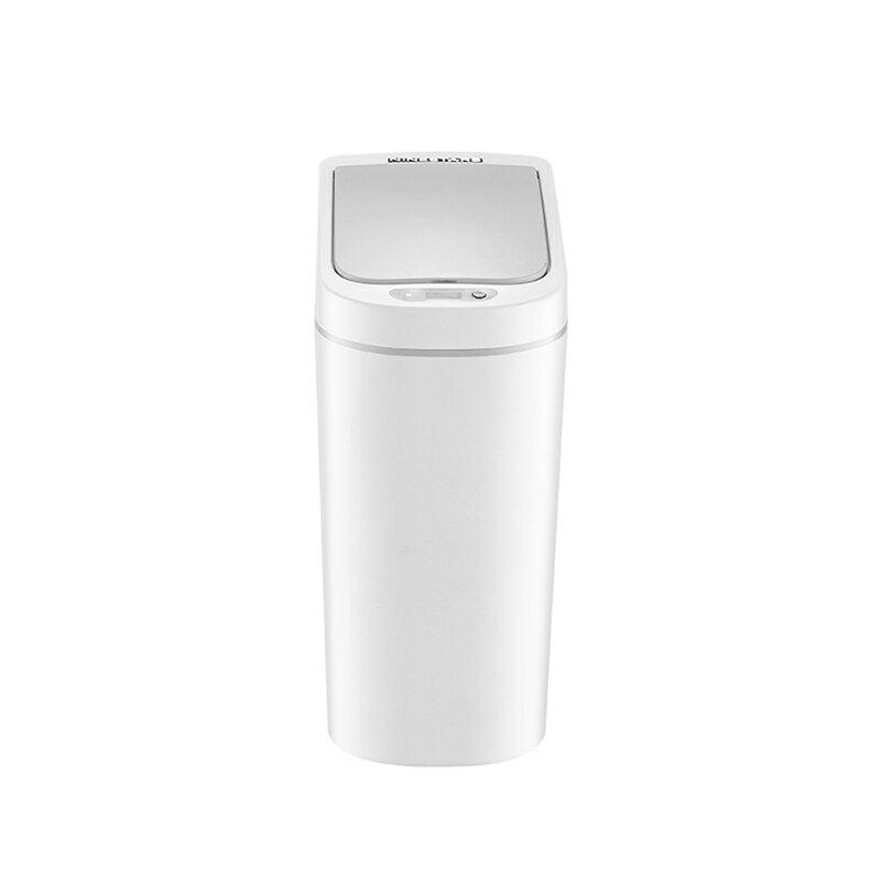 浴室防水智能感應垃圾桶7L 馬桶旁窄小空間專用 自動開蓋揮手感應桶 廚房觸控回收桶置物桶【ZI0408】《約翰家庭百貨 1