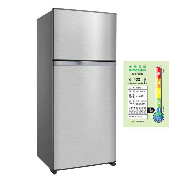 TOSHIBA 東芝 608公升 雙門變頻電冰箱 GR-W66TDZ~ 含配送安裝