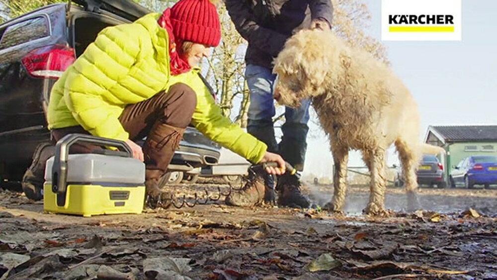 【德國原裝+贈好禮】Karcher OC3 德國凱馳 戶外可攜式清洗機 (露營烤肉郊遊登山越野溜狗適用)