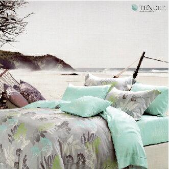 【名流寢飾家居館】可愛的蘊度.天絲.標準雙人鋪包組兩用鋪棉被套全套