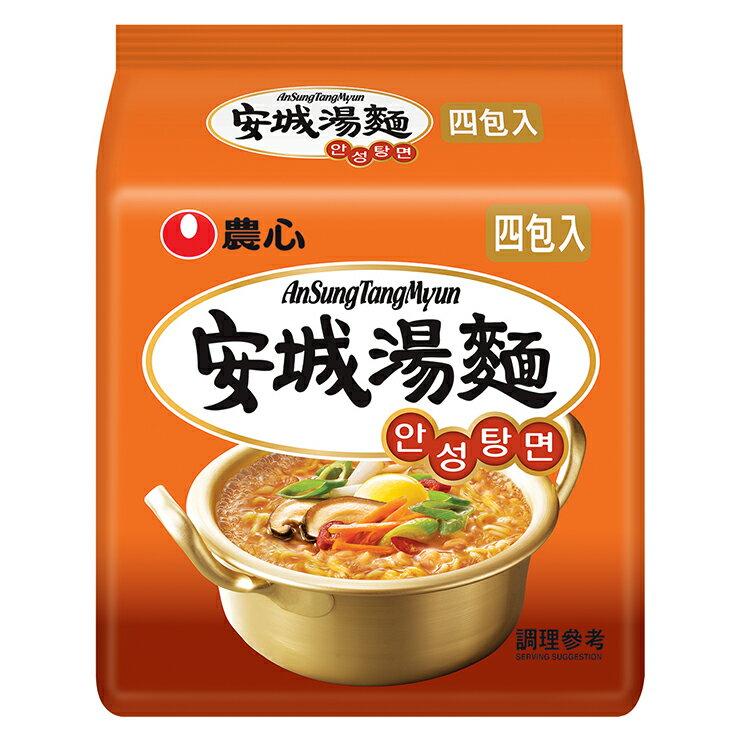 【農心】 安城湯麵  4袋裝 500g