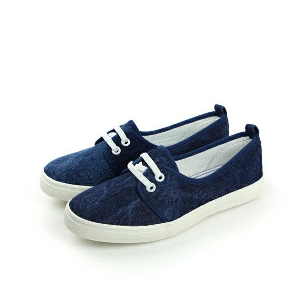 懶人鞋 藍 中童 no040