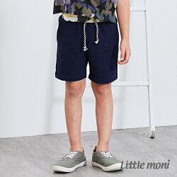 Little moni 素面五分褲-深藍