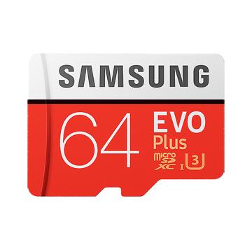 SAMSUNG 64GB 64G microSDXC【EVO PLUS 100MB/s】EVO PLUS microSD SDXC U3 C10 4K MB-MC64GA 手機記憶卡