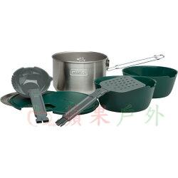 【【蘋果戶外】】Stanley 1001715 露營套鍋組 不鏽鋼鍋具組 二人鍋(碗/湯勺/鍋鏟) 18/8 304