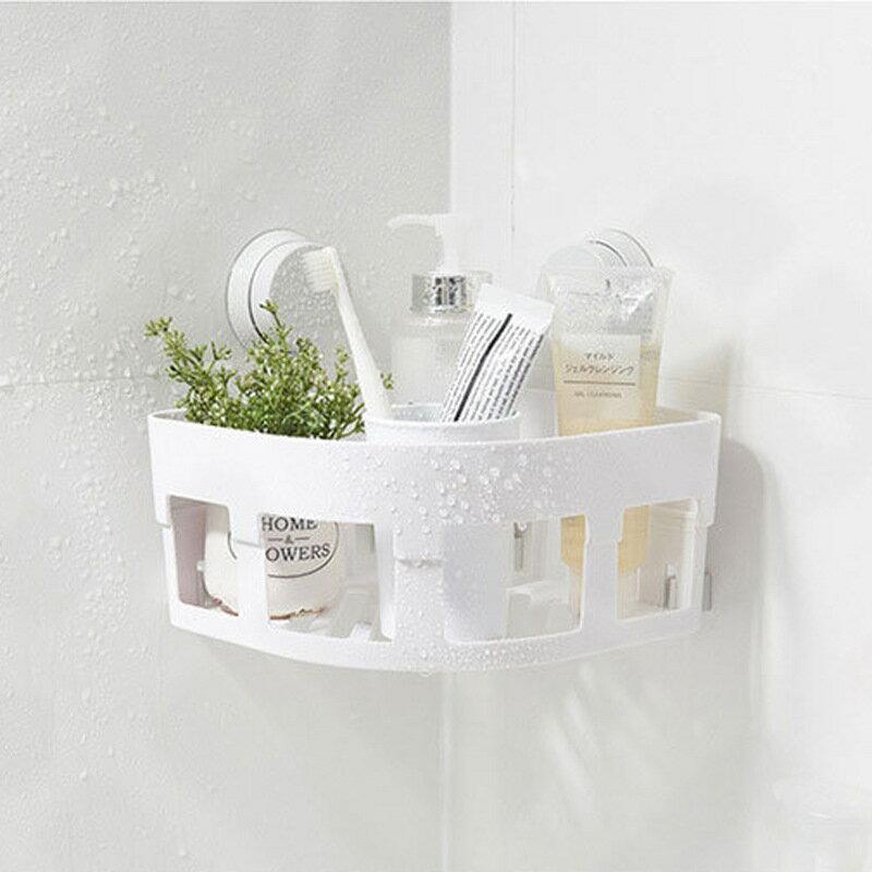 免打孔浴室置物架無痕吸壁式洗漱用品儲物架衛生間廚房轉角收納架【艾莎嚴選】