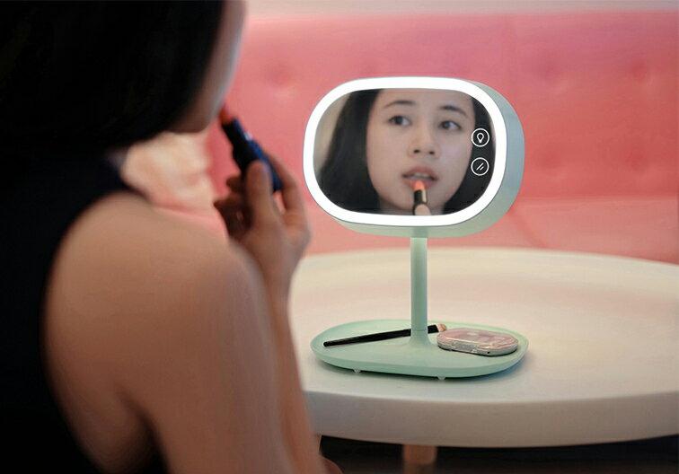 MUID 創意可充電式 LED 化妝鏡燈 檯燈 三合一功能 美麗小幫手
