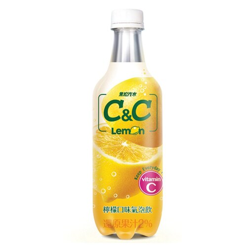 黑松汽水 C&C氣泡飲(檸檬口味) 500ml