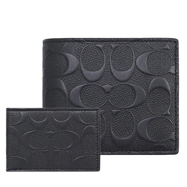 COACH F75371 男士男包短款端架漆皮時尚對折錢包錢夾 0