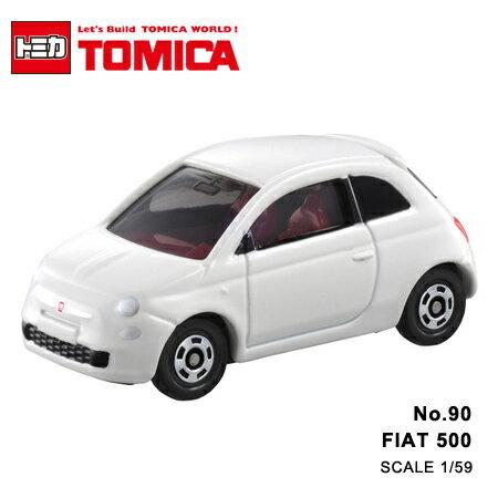 日貨 TOMICA No.90 FIAT 500 飛雅特 真車系列 汽車模型 多美小汽車【N201361】