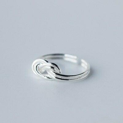 ~925純銀戒指開口戒~優雅線條編織 七夕情人節 女飾品73dt398~ ~~米蘭 ~